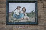 Forest Lawn Memorial Park. Outdoor ''paintings'' are in fact mosaics.
